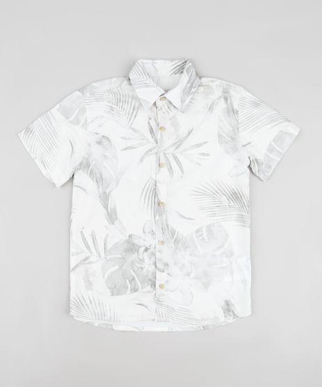 Camisa-Infantil-Estampada-de-Folhagens-Manga-Curta-Cinza-Claro-9903332-Cinza_Claro_1