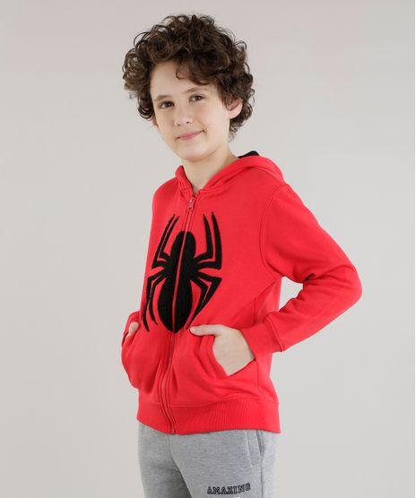 Blusao-Homem-Aranha-em-Moletom-de-Algodao---Sustentavel-Vermelho-8470082-Vermelho_1