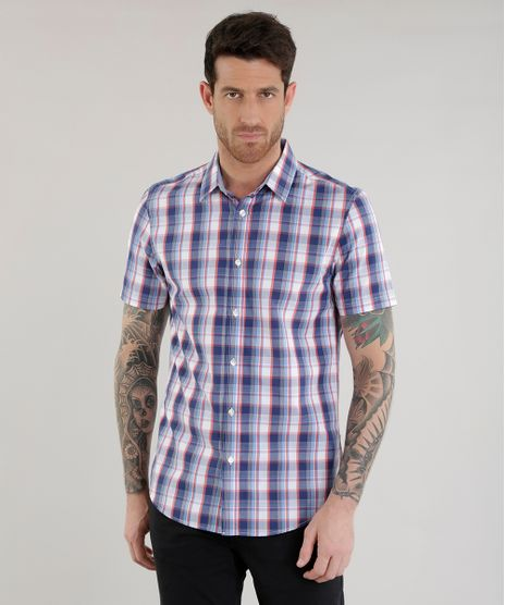Camisa-Slim-Xadrez-em-Algodao---Sustentavel--Azul-8454859-Azul_1