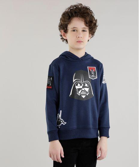 Blusao-Darth-Vader-com-Patchs-em-Moletom-de-Algodao---Sustentavel-Azul-Marinho-8470124-Azul_Marinho_1