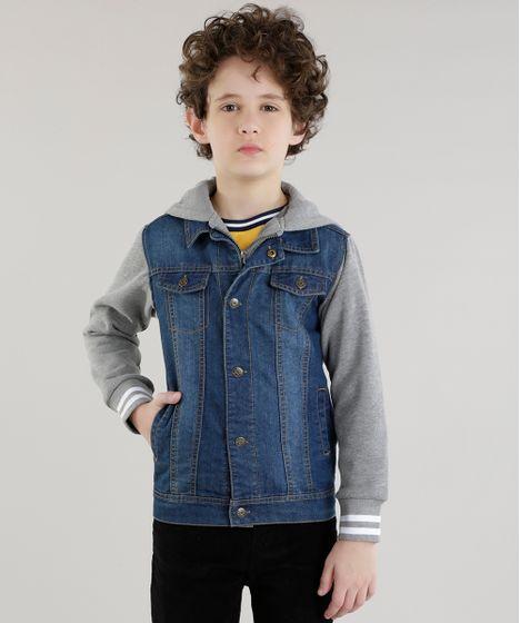 73c57e06a4 Jaqueta-Jeans-com-Moletom-Azul-Escuro-8448610-Azul Escuro 1 ...