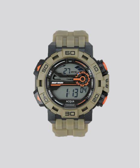 d5ee539add5 Relógio Digital Mormaii Masculino - MO1148AC8M Verde Militar - cea