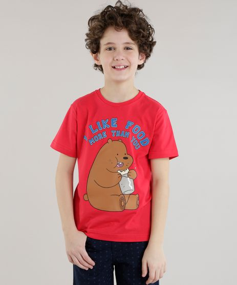 Camiseta--i-Like-Food--Vermelha-8634477-Vermelho_1