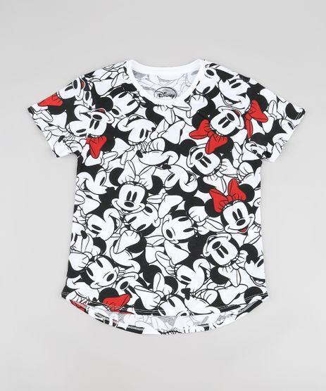 Blusa-Infantil-Minnie-e-Mickey-Estampada-Manga-Curta-Branca-9943182-Branco_1
