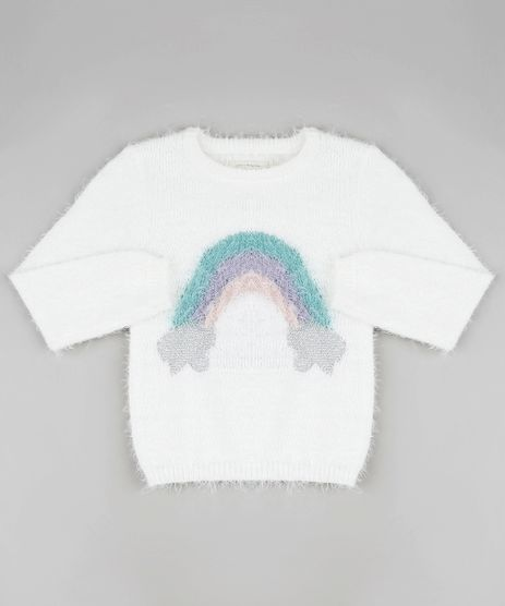 Sueter-Infantil-Arco-Iris-em-Trico-Felpudo--Off-White-9797546-Off_White_1