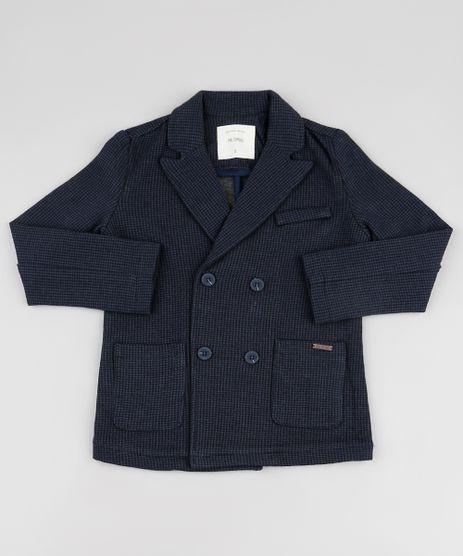 Blazer-Infantil-Transpassado-Estampado-Pied-de-Poule-com-Bolsos-Azul-Marinho-9807507-Azul_Marinho_1