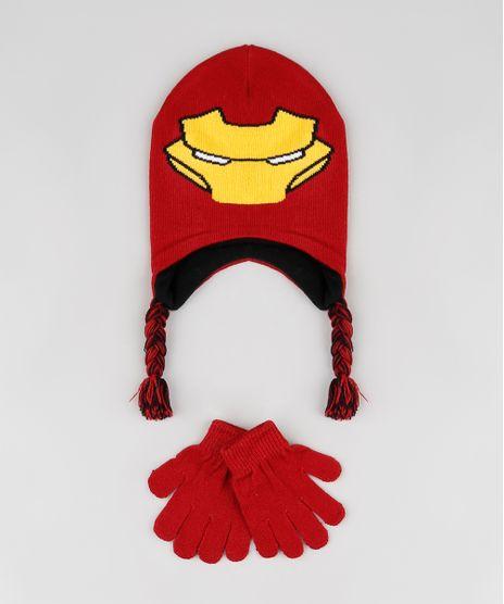 Kit-Infantil-de-Gorro-Homem-de-Ferro---Luva-em-Trico-Vermelha-9784916-Vermelho_1