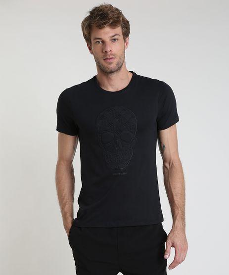 Camiseta-Masculina-Slim-Caveira-Manga-Curta-Gola-Careca-Preta-9899995-Preto_1