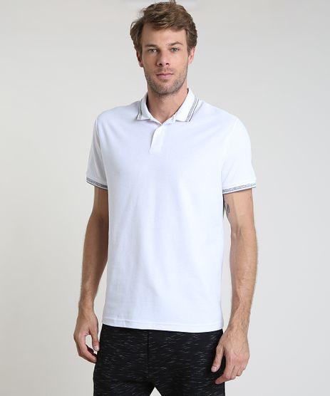 Polo-Masculina-Basica-em-Piquet-Comfort-com-Bordado-Manga-Curta-Branca-9842591-Branco_1