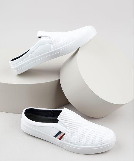 Tenis-Slip-On-Mule-Masculino-Oneself-com-Micro-Furos-Branco-9668426-Branco_1