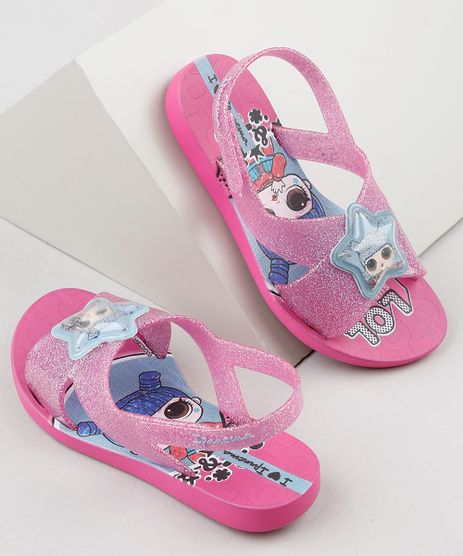 Rasteirinha-Infantil-Ipanema-LOL-Surprise-Estampada-com-Glitter-Rosa-9925098-Rosa_1