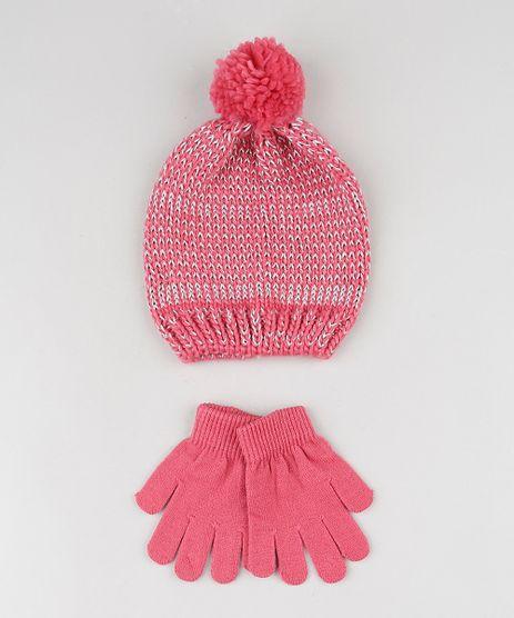 Kit-Infantil-de-Gorro-com-Lurex---Luva-em-Trico-Rosa-9784991-Rosa_1