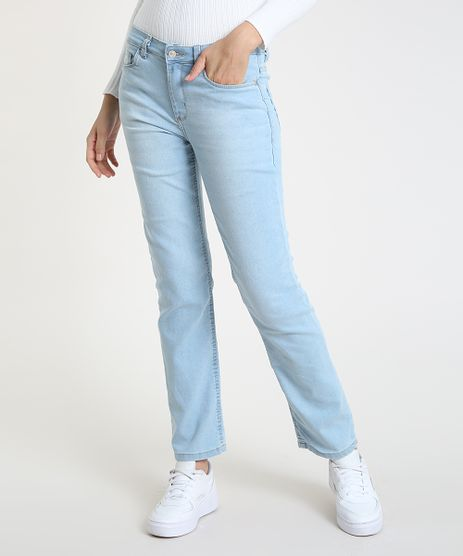 Calca-Jeans-Feminina-Reta-Cintura-Media-Azul-Claro-9897394-Azul_Claro_1