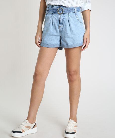Short-Jeans-Feminino-Clochard-Cintura-Super-Alta-com-Faixa-para-Amarrar-Azul-Claro-9885762-Azul_Claro_1