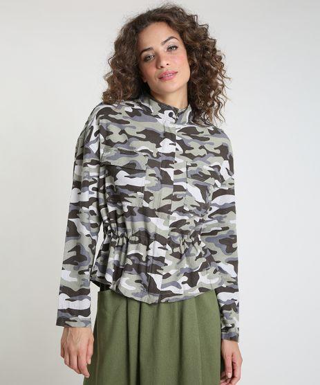 Jaqueta-Feminina-Estampada-Camuflada-em-Linho-com-Cordao-e-Bolsos-Verde-Militar-9813360-Verde_Militar_1