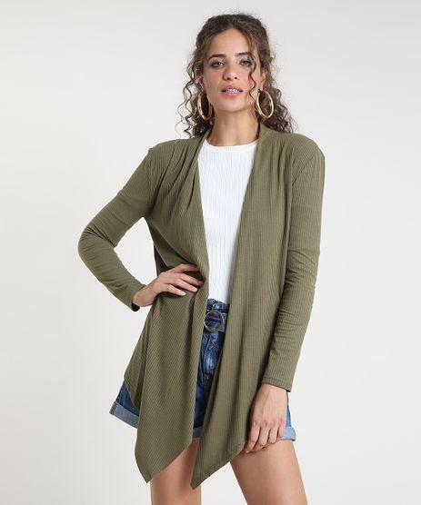 Capa-Feminina-Assimetrica-Canelada--Verde-Militar-9915067-Verde_Militar_1