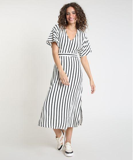 Vestido-Feminino-Midi-Listrado-com-Linho-e-Fenda-Manga-Curta-Off-White-9899557-Off_White_1