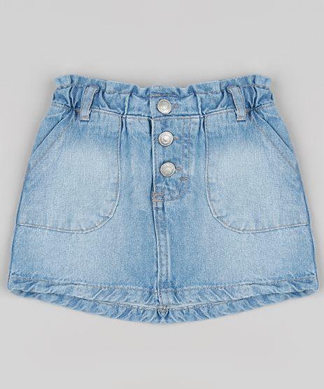 Saia-Jeans-Infantil-Clochard-com-Bolsos-Azul-Medio-9894181-Azul_Medio_1