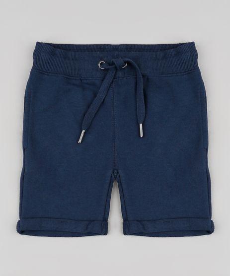Bermuda-Infantil-em-Moletom-com-Cordao-e-Bolsos-Azul-Marinho-9791583-Azul_Marinho_1