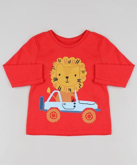 Camiseta-Infantil-Leao-Manga-Longa-Vermelha-9875966-Vermelho_1