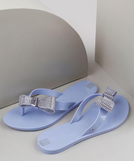 Chinelo-Feminino-Zaxy-Moment-com-Laco-Azul-9941675-Azul_1