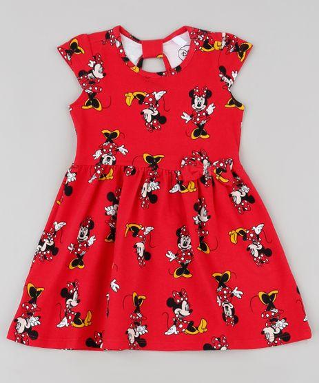 Vestido-Infantil-Minnie-Estampado-com-Laco-Manga-Curta-Vermelho-9909914-Vermelho_1