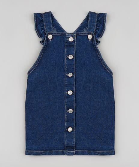 Salopete-Jeans-Infantil-com-Botoes-e-Babado-Azul-Escuro-9894183-Azul_Escuro_1