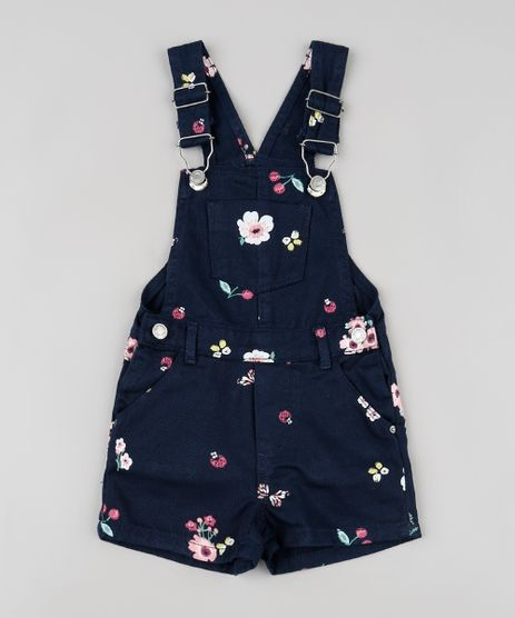 Jardineira-de-Sarja-Infantil-Estampada-Floral-Azul-Marinho-9919741-Azul_Marinho_1