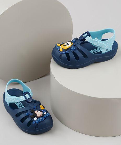 Babuche-Infantil-Grendene-Mickey-e-Pluto-Azul-Marinho-9938909-Azul_Marinho_1