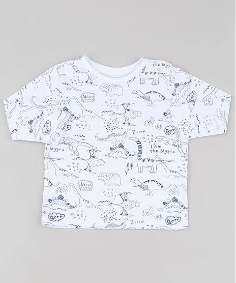 Camiseta-Infantil-Estampada-de-Dinossauros-Manga-Longa-Branca-9917811-Branco_1