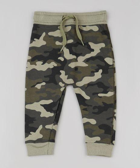 Calca-Infantil-Estampada-Camuflada-em-Moletom-com-Cordao-Verde-Militar-9869874-Verde_Militar_1