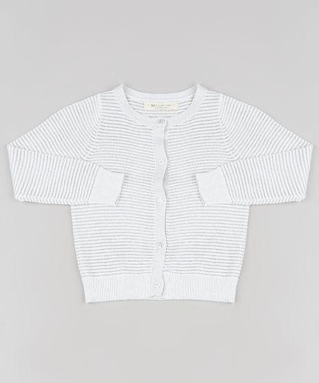 Cardigan-Infantil-Listrado-em-Trico-com-Lurex-Branco-9794864-Branco_1