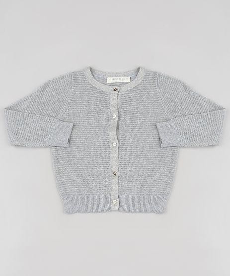 Cardigan-Infantil-Listrado-em-Trico-com-Lurex-Cinza-9794865-Cinza_1