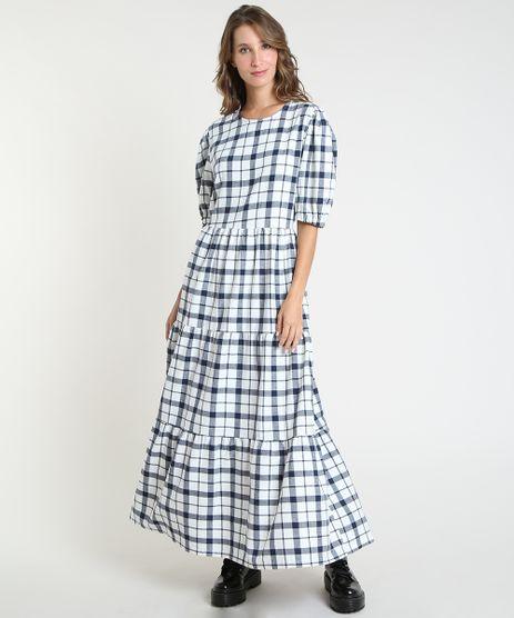 Vestido-Feminino-Mindset-Longo-Estampado-Xadrez-com-Recortes-Manga-Bufante-Branco-9947040-Branco_1