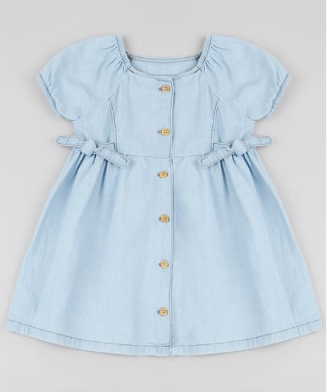Vestido-Jeans-Infantil-com-No-e-Botoes-Manga-Curta-Azul-Claro-9894185-Azul_Claro_1