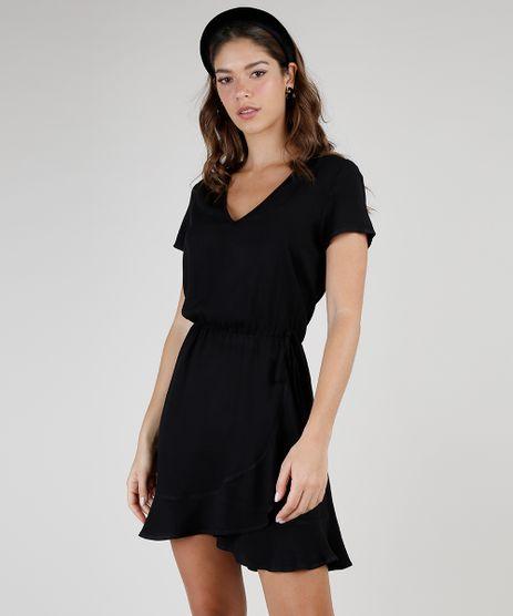 Vestido-Feminino-Curto-com-Transpasse-e-Babado-Manga-Bufante-Preto-9877763-Preto_1