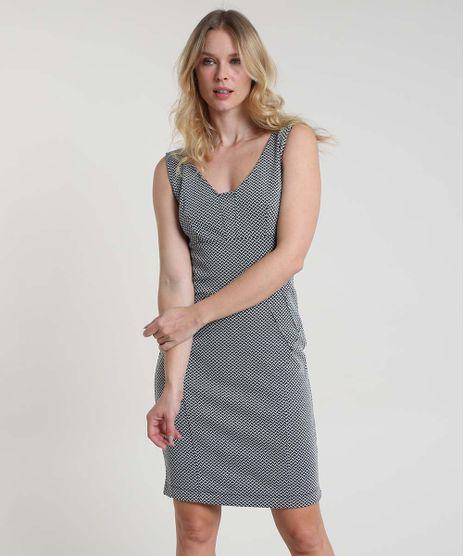 Vestido-Feminino-Curto-Estampado-Geometrico-Alca-Larga--Preto-9817743-Preto_1