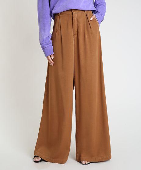 Calca-Feminina-Mindset-Pantalona-Cintura-Super-Alta-com-Bolsos-Caramelo-9946808-Caramelo_1