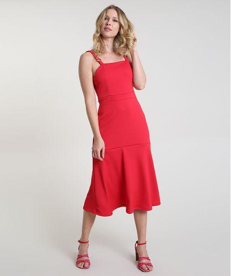 Vestido-Feminino-Midi-Texturizado-com-Recortes-Alca-Media-Vermelho-9874851-Vermelho_1