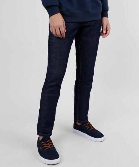 Calca-de-Sarja-Masculina-Slim-Azul-Escuro-9895080-Azul_Escuro_1