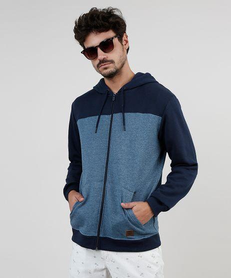 Blusao-Masculino-em-Moletom-Felpado-com-Recorte-e-Capuz-Azul-Marinho-9830105-Azul_Marinho_1