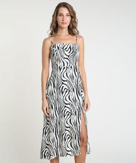 Vestido-Feminino-Mindset-Midi-Estampado-Animal-Print-Zebra-com-Fenda-Alca-Fina-Bege-Claro-9943429-Bege_Claro_1