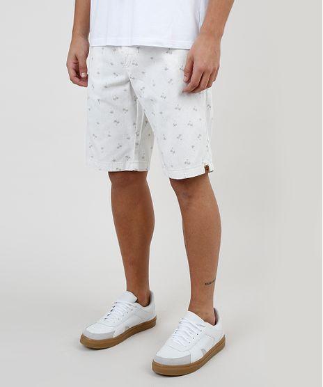 Bermuda-de-Sarja-Masculina-Reta-Estampada-de-Coqueiros-Off-White-9863639-Off_White_1