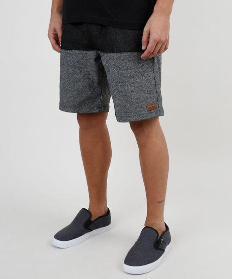 Bermuda-Jeans-Masculina-Reta-com-Recorte-e-Cordao-Preta-9880083-Preto_1