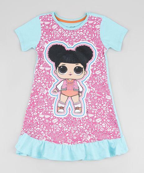 Camisola-Infantil-LOL-Surprise-com-Babado-Manga-Curta-Azul-Claro-9876988-Azul_Claro_1