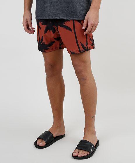 Short-Masculino-Estampado-de-Coqueiros-com-Cordao-e-Bolsos-Cobre-9863755-Cobre_1