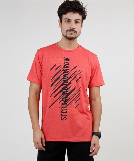 Camiseta-Masculina-Esportiva-Ace--Stop-Saying-Tomorrow--Manga-Curta-Gola-Careca-Coral-9868953-Coral_1