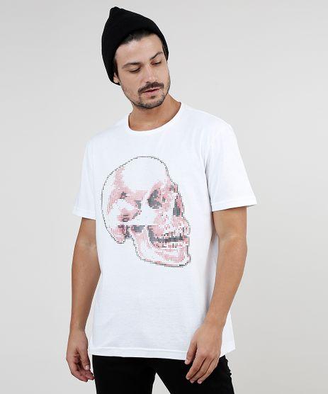 Camiseta-Masculina-Caveira-Quadriculada-Manga-Curta-Gola-Careca-Off-White-9870737-Off_White_1