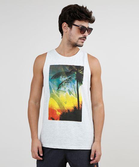 Regata-Masculina--Beach-Life--Gola-Careca-Cinza-Mescla-Claro-9760054-Cinza_Mescla_Claro_1