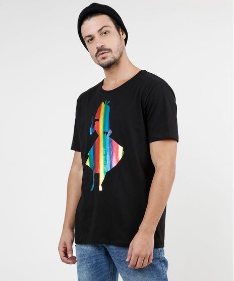 Camiseta-Masculina-Alice-no-Pais-das-Maravilhas-Manga-Curta-Gola-Careca-Preta-9873512-Preto_1